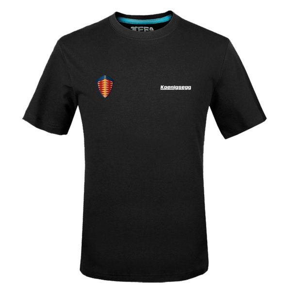 Verão camisetas de algodão Koenigsegg logotipo camisetas de manga curta Slim Fit Moda Tops Tees Masculino Vestuário g