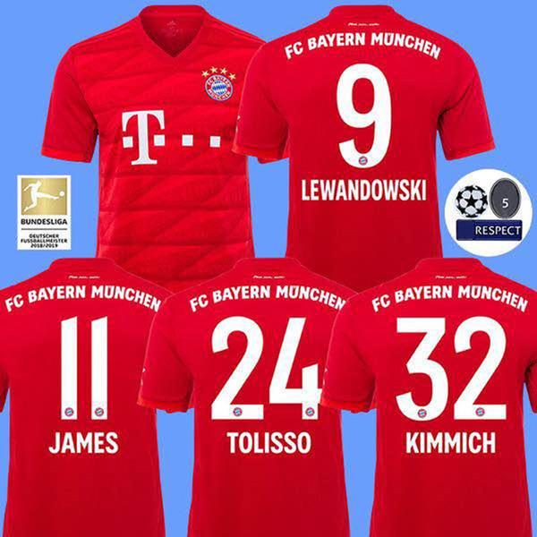 new style 380ee 2469a 2019 Op Thailand Bayern Munich JAMES RODRIGUEZ Soccer Jersey 2019 2020  LEWANDOWSKI MULLER KIMMICH Jersey 19 20 HUMMELS Football Shirt From Xxx552,  ...