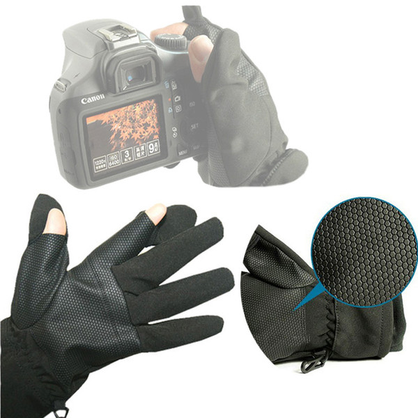 10pcs/lot S M L Photographic Waterproof Gloves Anti-skid Warm Outdoor Camera Shooting Glove for Canon Nikon Sony Pentax Camera