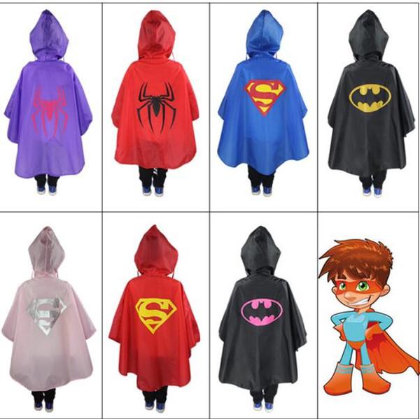 93CM Children's draperies new superhero series cloak poncho HalloweenChristmas Dress Up, Stage Props Children's Superhero Raincoat