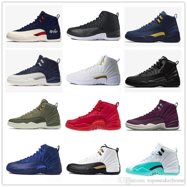 12 12s Basketball Shoes Designer Men Winterized Black WNTR Gym Red Flu Game GAMMA BLUE Taxi The Master Sports Breathable Sneakers With BOX