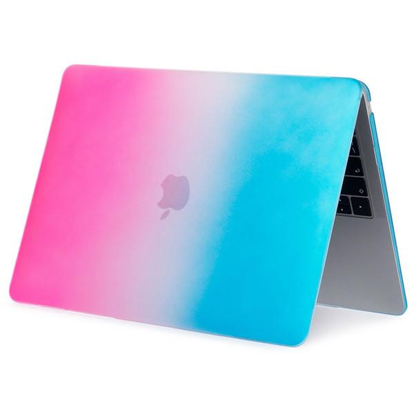 Custodia per laptop per MacBook Air 13 pollici (modello A1932, con display Retina Touch ID) Custodia in plastica Cover rigida colorata per arcobaleno