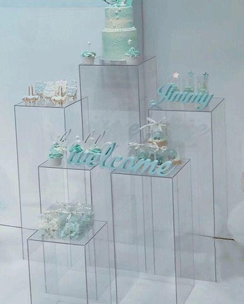 Ваза с цветами прозрачная акриловая Подставка для цветов Подставки для букетов свадебные Центральные витрины Витрина для витрины прохода дороги ведет свадебные цветы фоны