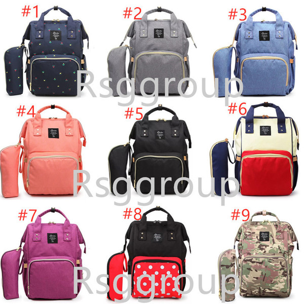 Free DHL New Diaper Bags Mommy Backpack With Bottle Bag 2pcs Set 11 Colors Nappies Mother Maternity Backpacks Outdoor Designing Diaper Bags