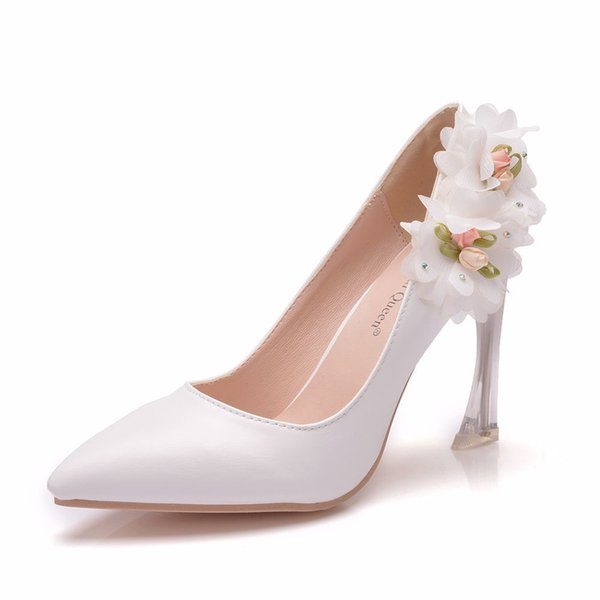 Handsome2019 Centimeter 9 Shallow Mouth Single Flower Crystal With Ball Evening Party Bride Bridesmaid Will Code Dinner Shoe