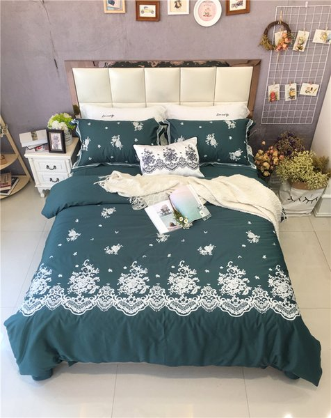 Boho bedding sets red blue bedclothes egyptian cotton embroidered queen king size 4pcs bed linen duvet cover sheet 36