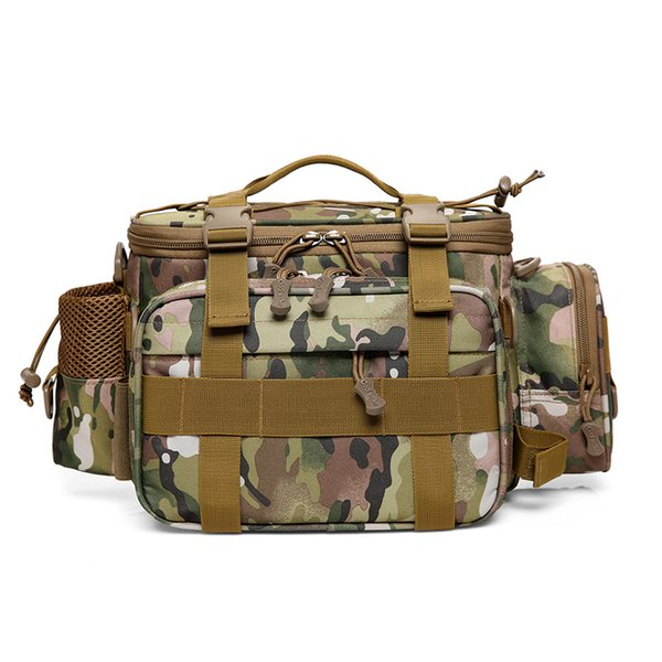 Travel Outdoor Backpack Camouflage Tactical Fishing Bag Large Capacity Sports Men's Bag Camouflage Outdoor New Hot