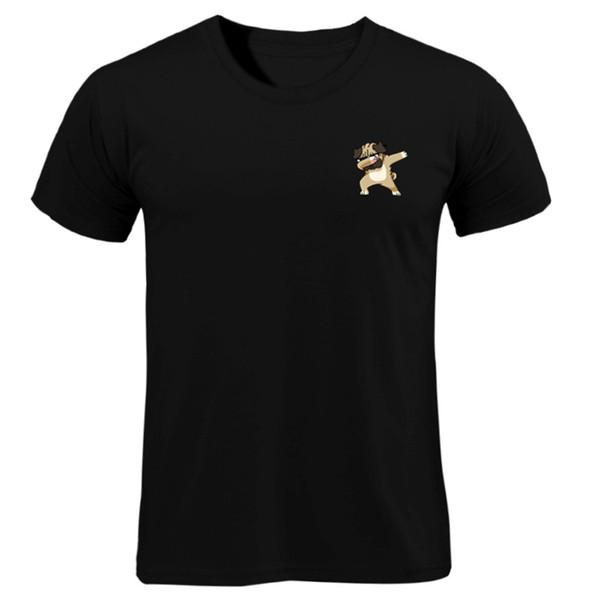 2018 New Arrivals Moda Dança cão Impressão de t-shirt Dos Homens de Cães Animal Camiseta Verão de Alta Qualidade Hipster Tops Tee homens