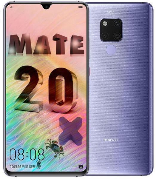 Telefono cellulare originale sbloccato Firmware Huawei Mate 20 X Octa Core da 128 GB / 256 GB Telecamere posteriori da 7,2 pollici 40 MP 3