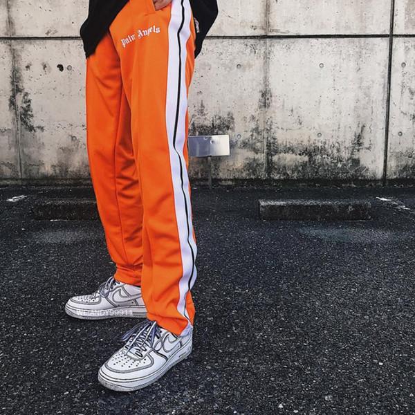 2019 Yeni Üst Kore Hip-Hop En Iyi Sürüm Palm Melekler PA Retro Yan Ekleme Fermuar Erkekler Kadınlar Pantolon İpli Sweatpants 5 renkler