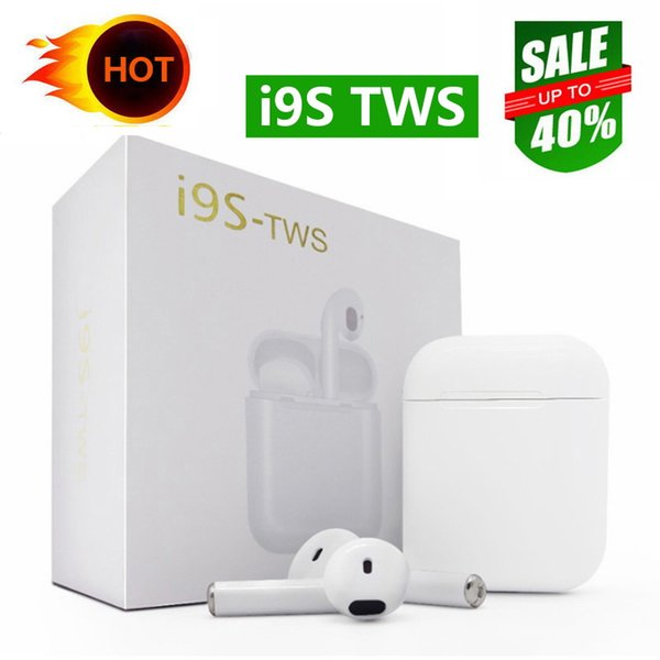 Yüksekliği kaliteli i9S TWS Kablosuz Bluetooth Kulaklık Kulakiçi Kulaklık BT 5.0 kablosuz kulaklık kulakiçi iPhone Samsung S10 için PK I7S I8X I10