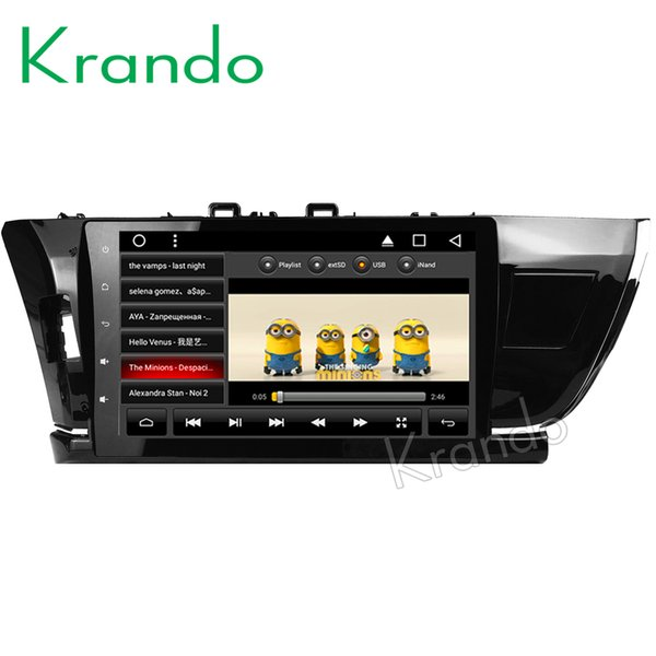 "Krando Android 8.1 10.1"" IPS Full touch Big Screen car DVD multimedia system for TOYOTA COROLLA 2014- 2016 radio player gps BT wifi"