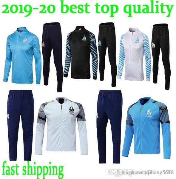 Stokta 2018 2019 Olimpik Marsilya eşofman futbol ceket Maillot De Ayak PAYET L.GUSTAVO THAUVIN OM Futbol ceket Eğitim elbise içinde