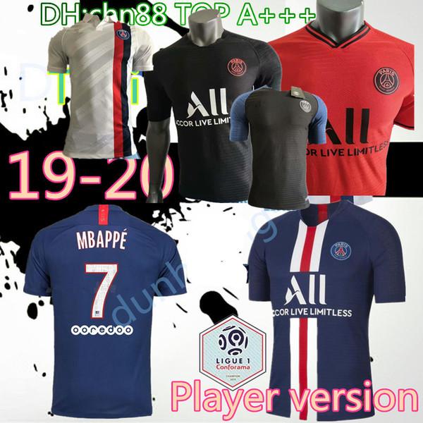 Версия для игрока PSG футбол Джерси 2019 2020 Париж DI MARIA MBAPPE CAVANI VERRATTI Сент-Жермен 19 20 футболка дома далеко третья футболка