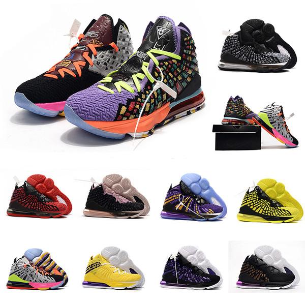 2020 XVII EP Lebrons 17 Hommes Chaussures de basket-ball GS PS 17s tricot OR PURPLE À partir de l'égalité futur roi Sport Baskets Sneakers nous Taille 7-12