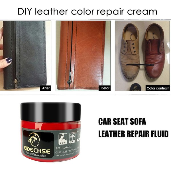 Auto Leather Vinyl Repair Kit Paint Cleaner For Car Seat Cover Coats Sofa  Scratch Cracks DIY Color Restore Adjustment Cream Professional Detailing ...