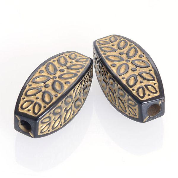 En gros 7X13MM Antique Design Perles Acrylique En Plastique Cannelé Ondulé Ondulé Ovale Perles Pour Bricolage Fabrication De Bijoux