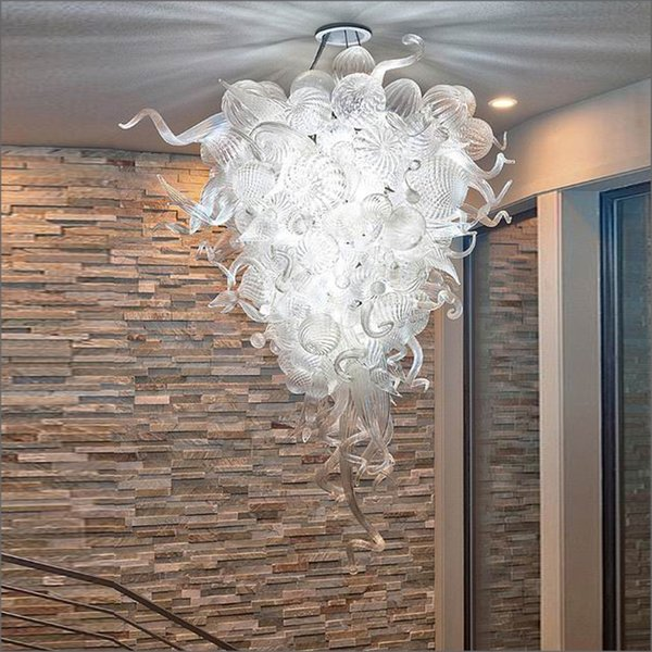 Zhongshan Manufacturer Unique Designed Hand Blown Glass Chandeliers Lightings Creative Hand Blown Glass Ceiling Lights for KTV Decor