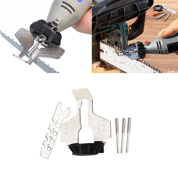 High Speed Steel Chainsaw Sharpening Attachment Set Kit 70mm For Saw Chains Tool Multi