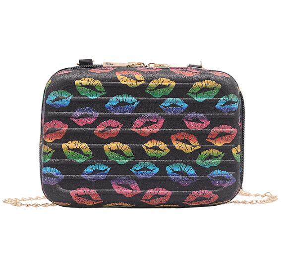 Fashion Lips Women Handbags summer beach Bags Female crossbody Shoulder chain Bags Ladies Party Handbags for girls 2019