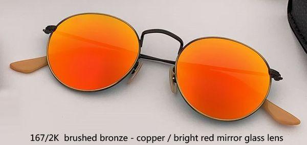Cobre de bronze de 167 / 2K / espelho vermelho brilhante
