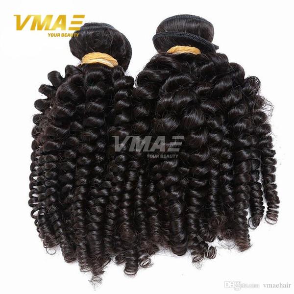 Capelli vergini peruviani afro ricci crespi capelli 100 per cento estensioni dei capelli umani tesse peruviano spirale curl buona qualità 3 pz lotto