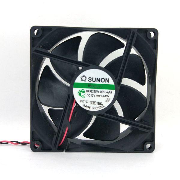 New Original for SUNON HA92251V4-Q01U-AA9 92*92*25MM DC12V 1.44W 2Lines Cooling fan