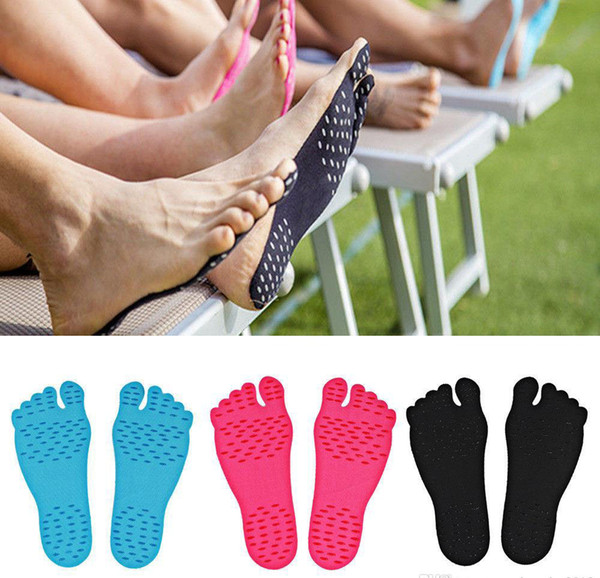 top popular Adhesive Shoes Waterproof Foot Pads Stick On Soles Flexible Feet Protection Sticker Soles Shoes For Beach Pool 2021