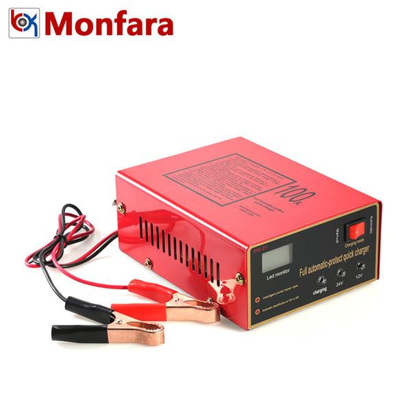 Modo Manual Monfara 12V 24V pulso inteligente reparo do carro carregador de bateria totalmente automático Monitor LED rápida Adaptador Power Charge