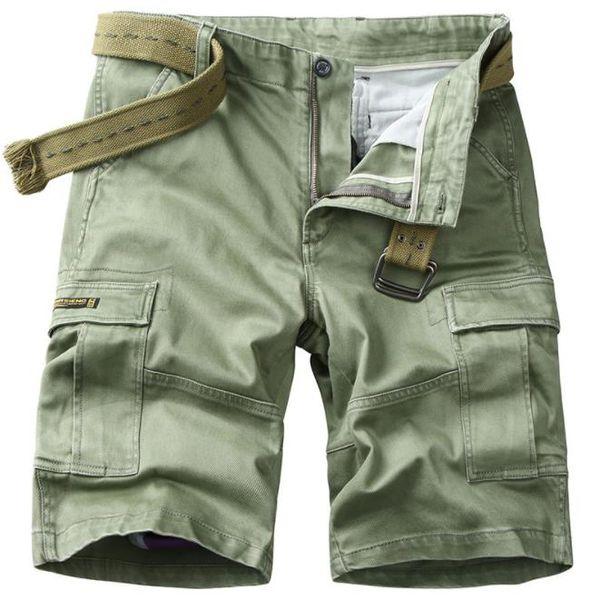 Summer Men's Shorts Casual Cargo Multi-pocket Short Trousers Men five-cent army beach Shorts Mens Boys Beachwear XXXXL Bottoms