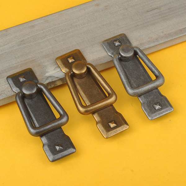 top popular Retro Cabinet Knobs Drawer Door Bin Cupboard Drop Ring Pulls Handle 2021
