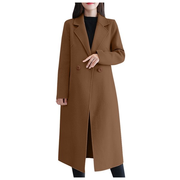 Casual Brasão Trench tamanho grande casaco longo da Mulher Mulheres Primavera Novos Outono-Inverno mulheres elegantes Casacos de Inverno 2019