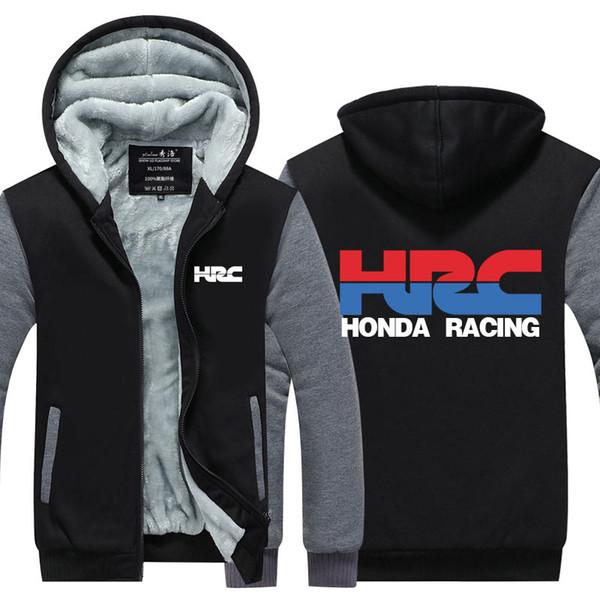 US EU Size race motorcycle modified Hoodie Sweatshirt Men's Fleece Winter Thicken Zipper Hoodies Jacket Jacket super warm Sweatshirt