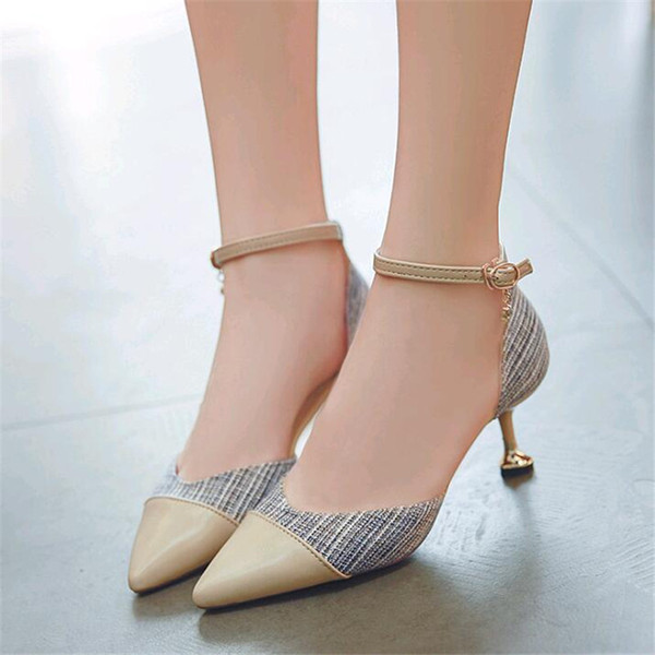 fbc7cfd49b7 Designer Dress Shoes 2019 New Side Air Women'S High Heels Pointed Stiletto  Sexy Color Matching Hollow Women'S Single Shoes For Men Womens Shoes From  ...