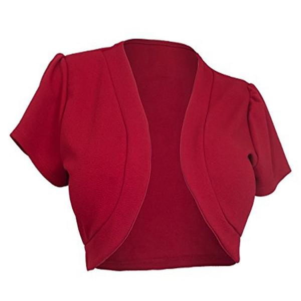 Women Cardigan Short Sleeve Shrug Bolero Casaco Feminino Slim Woman Open Stitch Womens Sweaters Outerwear