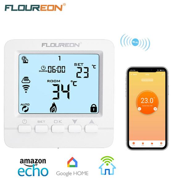 FLOUREON واي فاي ترموستات درجة الحرارة المراقب المالي الطابق التدفئة الكهربائية للبرمجة الحرارة يعمل مع اليكسا صفحة Google الرئيسية