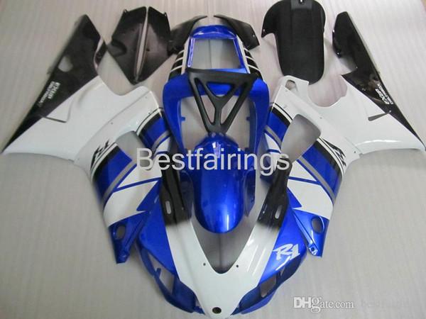 ZXMOTOR 7 gifts fairing kit for YAMAHA R1 1998 1999 white black blue fairings YZF R1 98 99 GG46