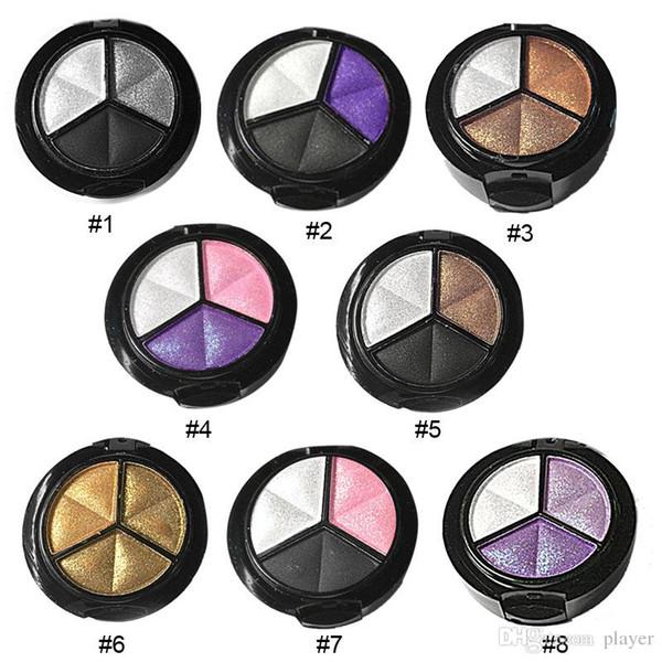 3 Farben natürlicher Matte Lidschatten-Paletten-Verfassungs-Augen-Schatten-Palette Nude Smoky Eye Shadow Glitter