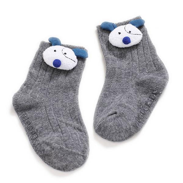 2019 New Lovely Infant Baby Toddler Girls Boys Socks Cotton 0~5Y Cute New Born Kids 3D Animal Knitted Anti-Slips Socks
