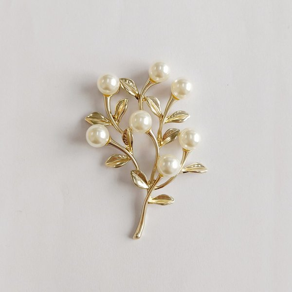 10PCS 43*61mm Metal Alloy Imitation Pearl Branch Connectors Matted Gold Charm DIY Jewelry Accessories