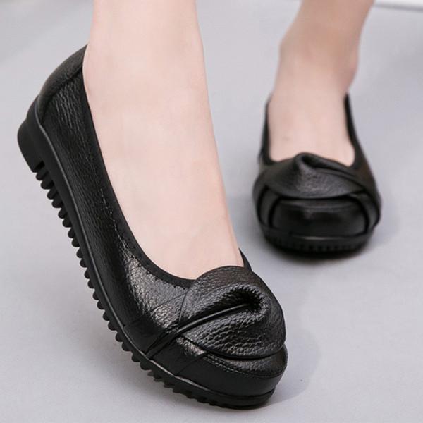 женская повседневная обувь женская обувь дикая с мягким дном женская кожаная обувь zm5836