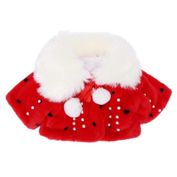 Casaco de Inverno Baby Girl grossa jaqueta Princesa Pink Girl Moda Aqueça traje da pele do falso veludo Crianças Casacos Casacos de Ano Novo