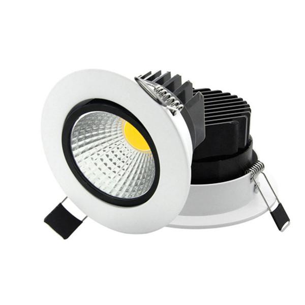 Super Brillante Empotrado Redondo LED Regulable Downlight COB 5W 7W 9W 12W LED Spot Luz LED Decoración Lámpara de techo AC110V 220V