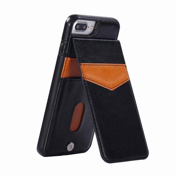Für iphone xs max xr 8 plus 7 flip leder case abdeckung für samsung galaxy s9 s10plus multifunktions handy case