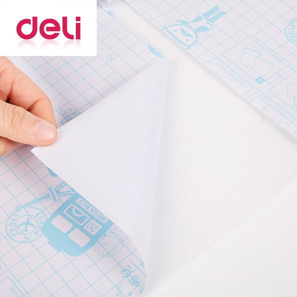 Deli 30pcs/set transparent book cover can be cut self adhesive book paper sticker film large medium small cover