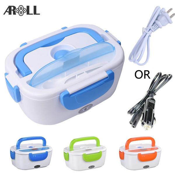 best selling Portable Electric Lunch Box for Car 12V 110V 220V Electric Lunchbox Heated Container For Food Warmer Heating Keeping T200111