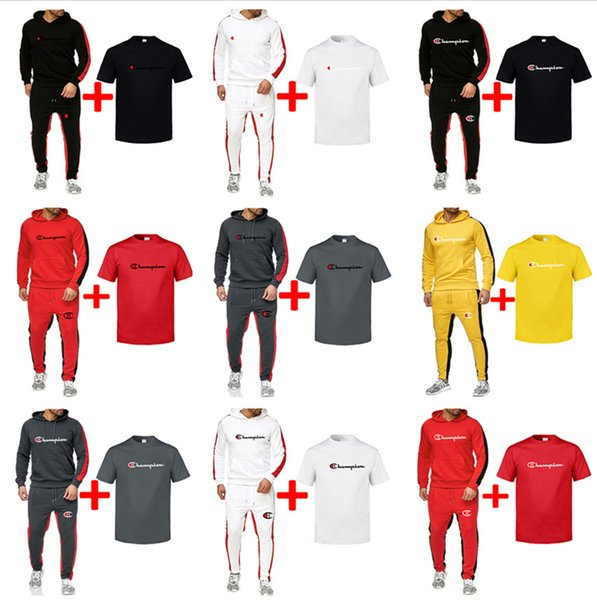 Brand Champions mens Outfit Hoodies Sports Pant T Shirt 3pcs Set Sportswear Winter Autumn Men Long Sleeve Casual running Sweatsuit B82302