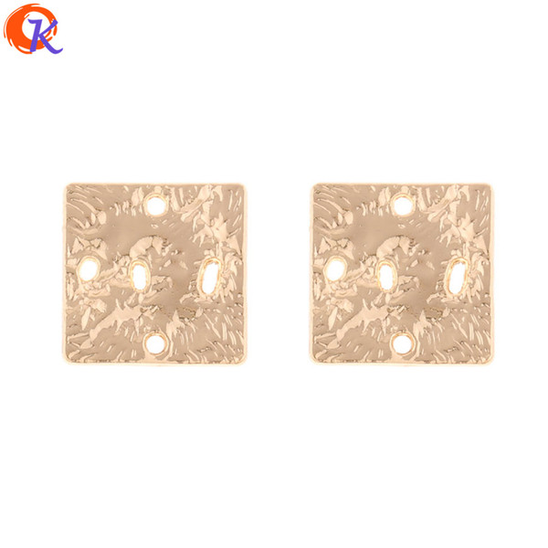 wholesale 100Pcs 18*18MM Jewelry Making/Earring Accessories/Square Shape/DIY Connector Parts/Hand Made/Earring Findings