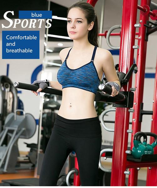 Sport-BH Quakeproof Schnelltrocknend Segmentfärbung Keine Stahlringschnalle Yoga-Unterwäsche Training für das Laufen Fitness-Unterwäsche
