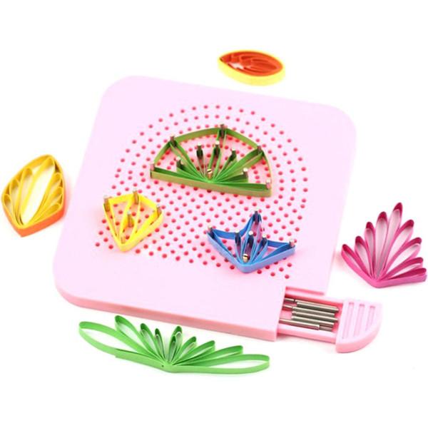 Fournitures de bricolage Craft Guide grille de la main Quilter pour pliage de papier Crafting Quilling Craft Outil bricolage papier Quilling outil 105 * 105 * 8 mm